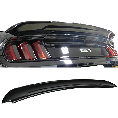 Pre-Painted Trunk Spoiler Fits 2015-2019 Ford Mustang Coupe | 2DR Track Pack Style Painted #UA Ebony ABS Rear Spoiler Wing Other Color Available by IKON MOTORSPORTS | 2016 2017
