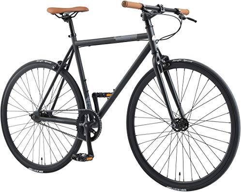 BIKESTAR Stadsfiets Single Speed 700C Fixie 28 inch   Racefiets frame 53 cm Vintage Retro fiets mannen en vrouwen