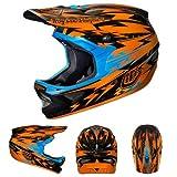 Troy Lee Designs Thunder CF D3 Carbon Bike Race BMX Helmet - Orange / Small