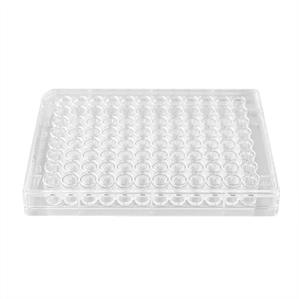 Tansoole 6 Well Cell Culture Plate with Lid Sterile TC Treated Polystyrene Petri Dish