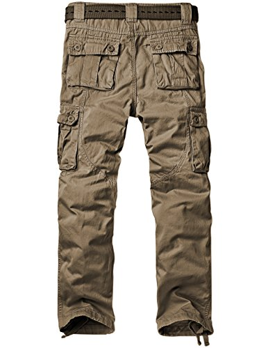 56fea3e590 Match Men's Casual Wild Cargo Pants Outdoors Work Wear #6062(29,Dark Khaki