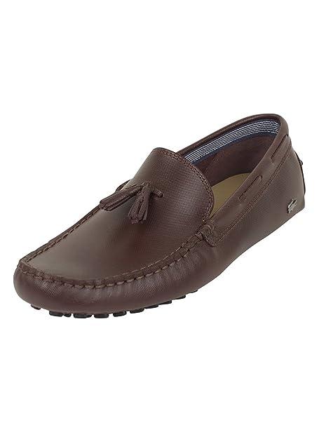 Lacoste Hombre Concours Tassle 8 SRM Loafers, Marrón, 46: Amazon.es: Zapatos y complementos