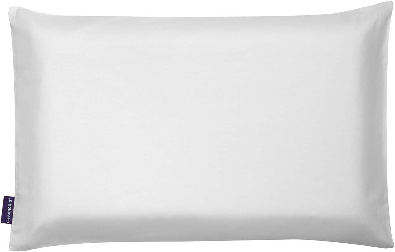 100/% Cotton Clevamama Clevafoam Toddler Pillow Case 450 g White
