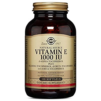 Solgar Vitamin E 1000 IU Mixed D-Alpha Tocopherol and Mixed Tocopherols Softgels, 100 Count