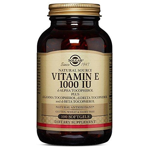 Solgar - Vitamin E 1000 IU Mixed Softgels (1000 IU d-Alpha Tocopherols & Mixed Tocopherols) 100 Count