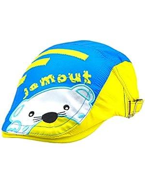 Little Boys' Cartoon Dog Face Patterns Beret Breathable Newsboy Adjustable Hat