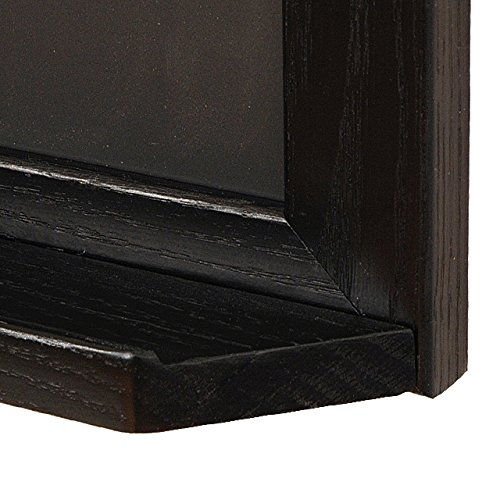Ebony Wood 18''h x 24''w Black Magnetic Chalkboard with Tray