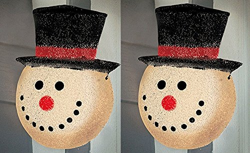 Outdoor Lamp Post Snowman - 7