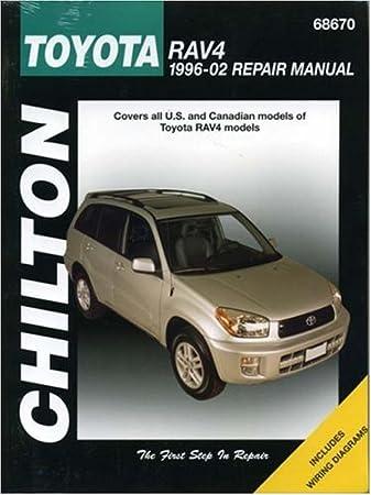 amazon com: chilton toyota rav4 (96-12) repair manual (68670): the chilton  editors: automotive