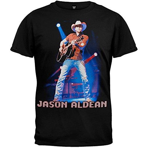 Jason Aldean - Mens Live 2010 Tour T-shirt X-large Black