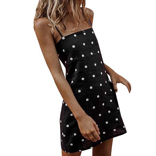 ff5e31718629 Amazon.com: Redacel Women Boho Holiday Polka Dots Mini Dress ...