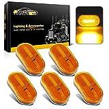 4 x 2 rv marker lights lenses - Partsam 5x Amber Clearance/Marker Side Light w/ Removable Lens RV Trailer Truck Camper 4
