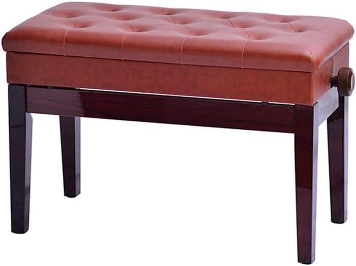 ピアノ椅子 スツール木製のピアノスツール調整古筝スツールエレクトリックピアノスツール子供ピアノスツールを持ち上げるダブルストレートレッグで本棚 安定性抜群 (Color : Reddish brown, Size : 80x35x55cm)