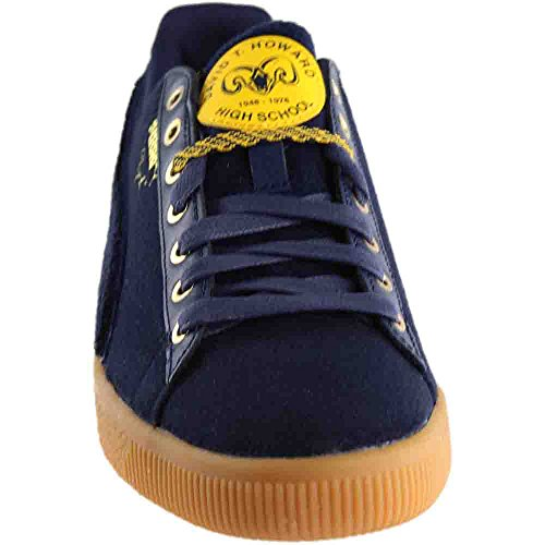 Puma Mens Clyde Wool Bhm Puma New Navy / Spectra Yellow