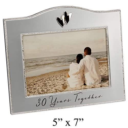 30 Years Together Wedding Anniversary 5 X 7 Photo Frame By Haysom Interiors