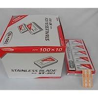 Wennow Dorco St301 Platinum Double Edge Razor Blades / 1case (1000 Blades)