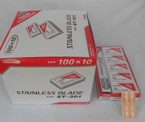 Wennow Dorco St301 Platinum Double Edge Razor Blades / 1case (1000 Blades) by WennoW