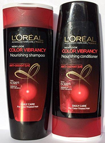 L'Oreal Paris Advanced Haircare Color Vibrancy Nourishing, DUO Set Shampoo + Conditioner, 12.6 Ounce, 1 Each