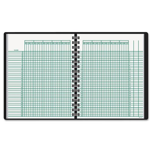 (At-A-Glance,Books,Record,Logs,Journals,Teachers Grade Book,2-Page Spread,Ten Weeks,Seating Charts,35 Student Wirebound Record Book)