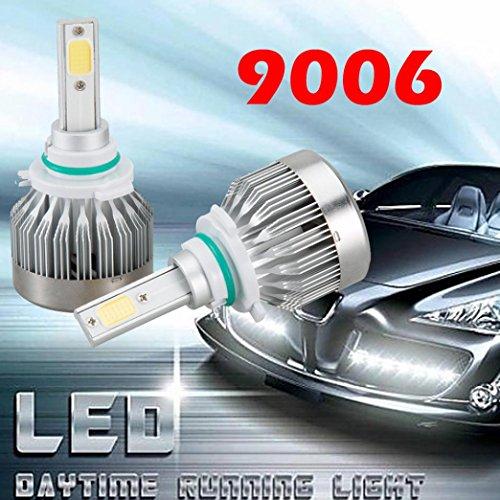 DZT1968 2x 9006 IP67 External LED Light Headlight Vehicle Car Hi/Lo Beam Bulb Kit 6000k 60W 20000LM