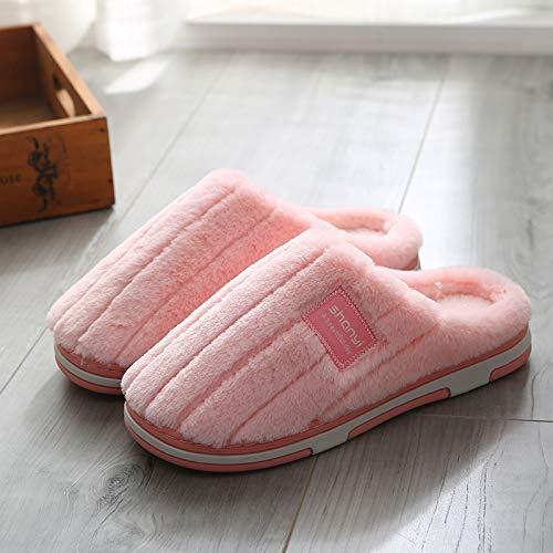 Fondo Ciabatte Coppia Shoe Cotone Donne Mese Coperta Di Antiscivolo C5 Spesse Qsy Le Caldo m819 Del Fumetto Casa Trascinare Rosa Z65wC4q