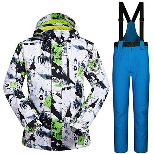 Deportivos Calentar Ropa Para Azul Y Verde Conjuntos Transpirable Blanco De Hombre Esquí Invierno Pantalones Impermeable d8aSwUqv