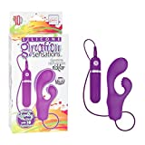 California Exotic Novelties Silicone Gyration Sensations 10-Function Tickler - Purple