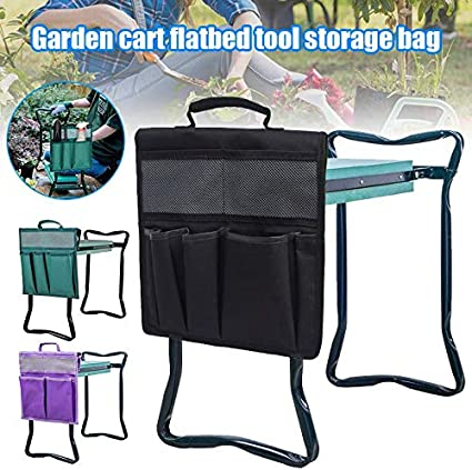 12.2x11.8 Inch with Handle for Kneeling Chair Garden Tool Bag Tool Bags Heavy Duty Black Garden Kneeler Tool Oxford Bags Gizayen Tool Pouch Purple and Green