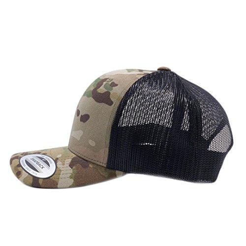 Retro Mesh Hat - Yupoong Classic 6606, 6606T, 6606W, Retro Trucker Hats, Mesh Back Baseball Caps (Multicam)
