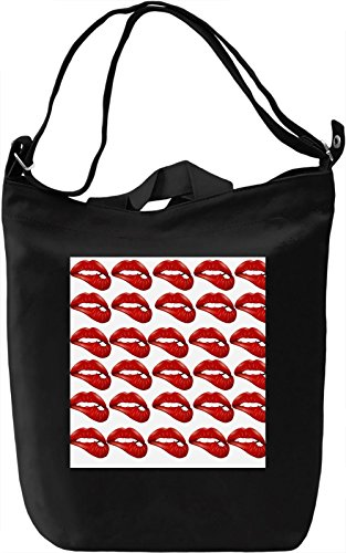 Bitting Lips Borsa Giornaliera Canvas Canvas Day Bag| 100% Premium Cotton Canvas| DTG Printing|