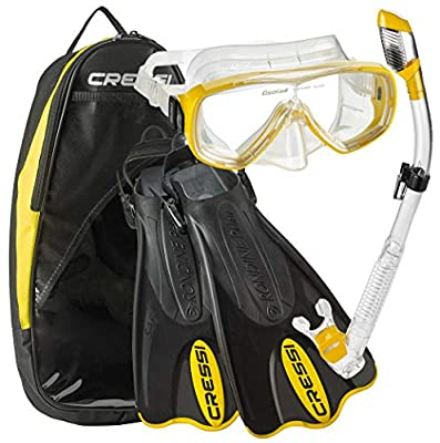 Cressi Light Weight Premium Travel Snorkel Set fo All Family | Palau SAF Set Designed and Manufactured in Italy