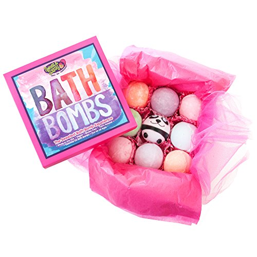Sweet & Sassy Bath Bomb Gift Set for Girls & Teens. 8 Count Assorted. Bath Bombs for Kids. Bath Balls for Kids. Lush Spa Fizzies. Girls Birthday Gift. Teen Gift. All Natural. Vegan.