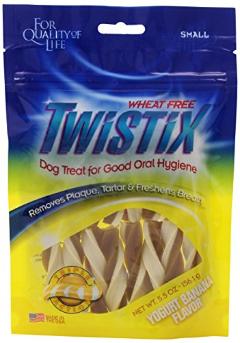 Twistix 5.5-Ounce Yogurt and Banana Dental Chew Treats for Dogs, (Banana Sticks)