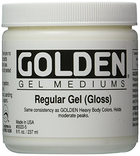 Liquin Light Gel - Golden Regular Gloss Gel Medium-8 ounce (30205)