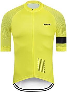 Atelcic Maillot para Ciclismo MTB Spinning Ciclismo de Carretera, Traje de Ciclismo Manga Corta Verano para Hombre y Mujer: Amazon.es: Deportes y aire libre