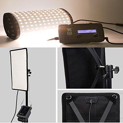 Menik CB-68A 68W 336pcs Portable Roll-flex Led Studio Flexible Lighting  CRI95 3200-5600K Bi-color LED Video Light for Video Shooting Portrait