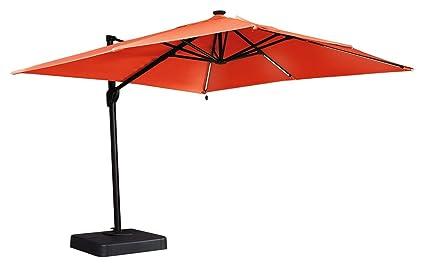 Ashley Furniture Signature Design   Oakengrove Outdoor Patio Umbrella    Modern Style   Hand Crank With
