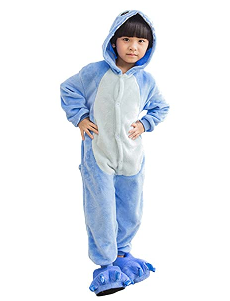 MissFox Kigurumi Pijamas Unisexo Niños Traje Disfraz Niños Animal Pyjamas Stitch 85