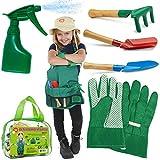 Kids Gardening Set, Garden Tools, Kids Gardening Gloves Washable Apron Set Real Sand Gardening Dress up Halloween