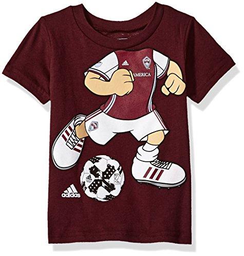 fan products of MLS Colorado Rapids Boys Dream Job Soccer Player Short Sleeve Tee, 3 Tall, Burgundy