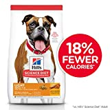 Hill's Science Diet Dry Dog Food, Adult, Light for Healthy Weight & Weight Management, with Chicken Meal & Barley Recipe, 15 lb Bag