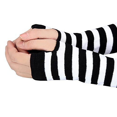 Tonsee Women Gloves,Winter Wrist Arm Hand Warmer Knitted Long Fingerless Gloves Mitten Long Arm Warmers ()