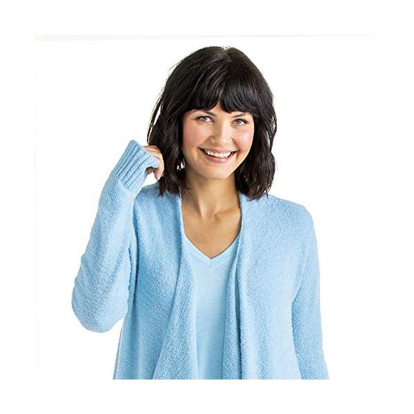 Softies Women's Cozy Cloud Cardigan with Bracelet Thumb Holes