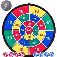 Mdtrade Juego de Tablero de Dardos para niños- 8 Bolas pegajosas y Tablero de Dardos de 13.8 Pulgadas (35 cm)- Juego de Dardos Seguro -Regalo para niños Paquete de Caja Colorida
