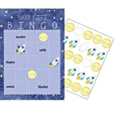 Party Central Club Pack of 60 Blue and White Checkered Baby Gift Bingo Game 10""