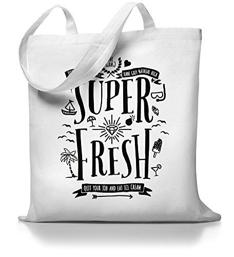 Kane Grey - Super Fresh - Jutebeutel Weiß