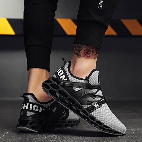 Sports Shoes Shoes Running Shoes HONGANG for Running Breathable Leisure Blade Lightweight Grey Athletic Outdoors with Fashion Men's qHIRRBw