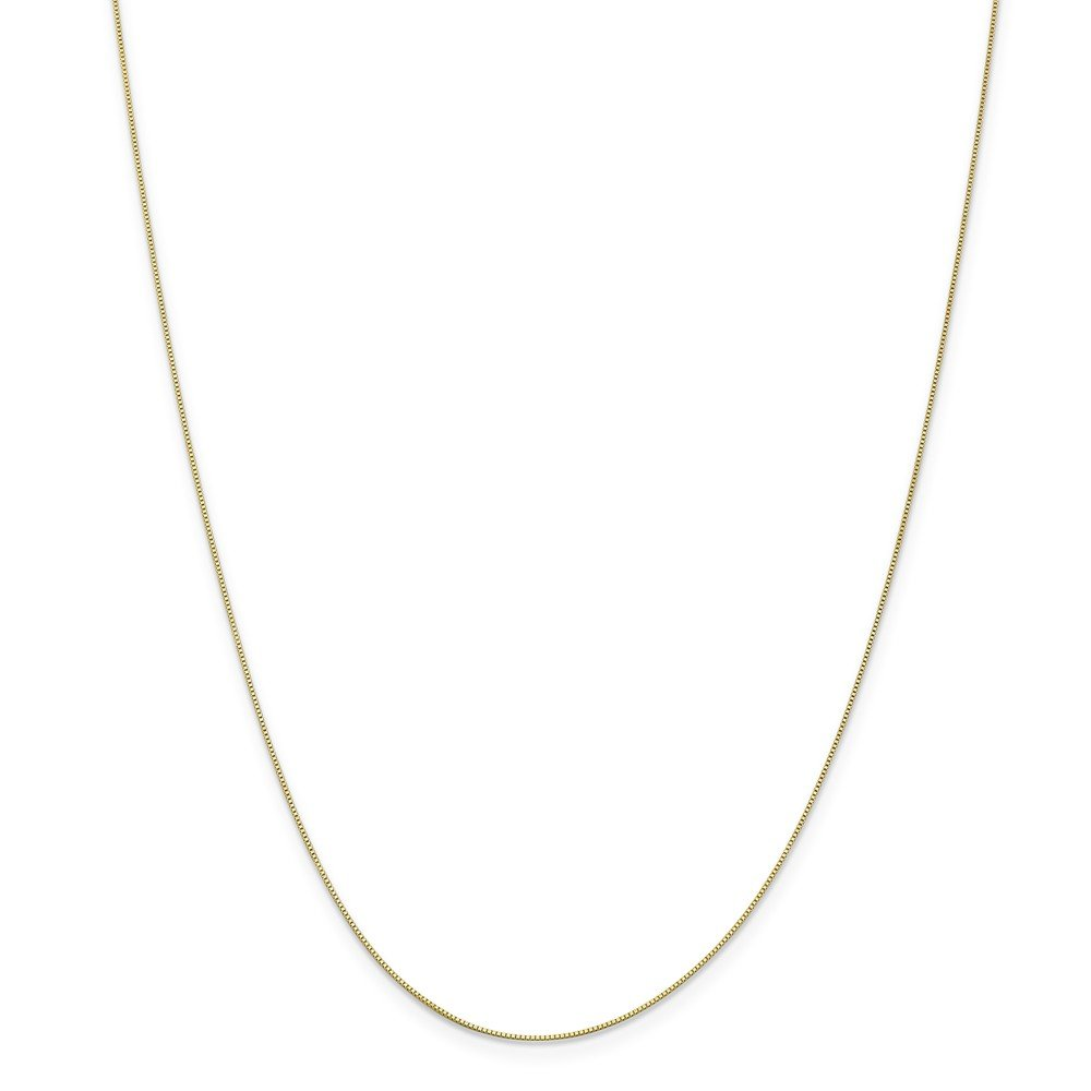 14in x 0.5mm Mia Diamonds 10k Solid Yellow Gold .5mm Box Necklace Chain 14