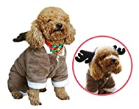 Stocktake Sale! Another Me Cute Pet Santa Costumes Suit with Hat Reindeer Suit Dog Cat Hoodies Coat