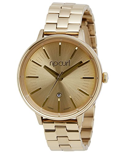 Rip Curl Lindsay Gold Women's Analog Goldtone Date Watch A2841G-gol by Rip Curl